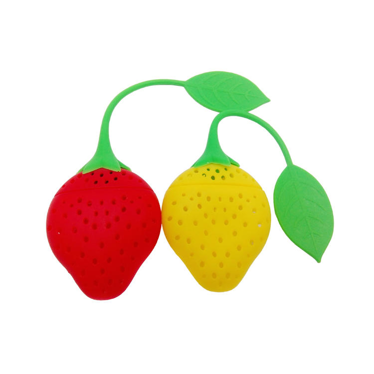 BPA Free Strawberry Shaped Silicone Tea Infuser