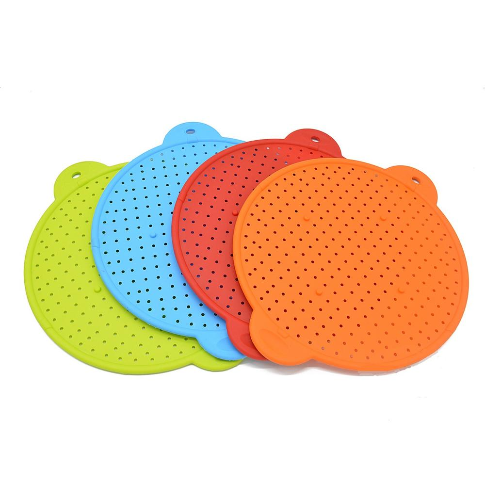 Multifunctional BPA Free silicone kitchen clip on strainer vegetables food fruit Colander