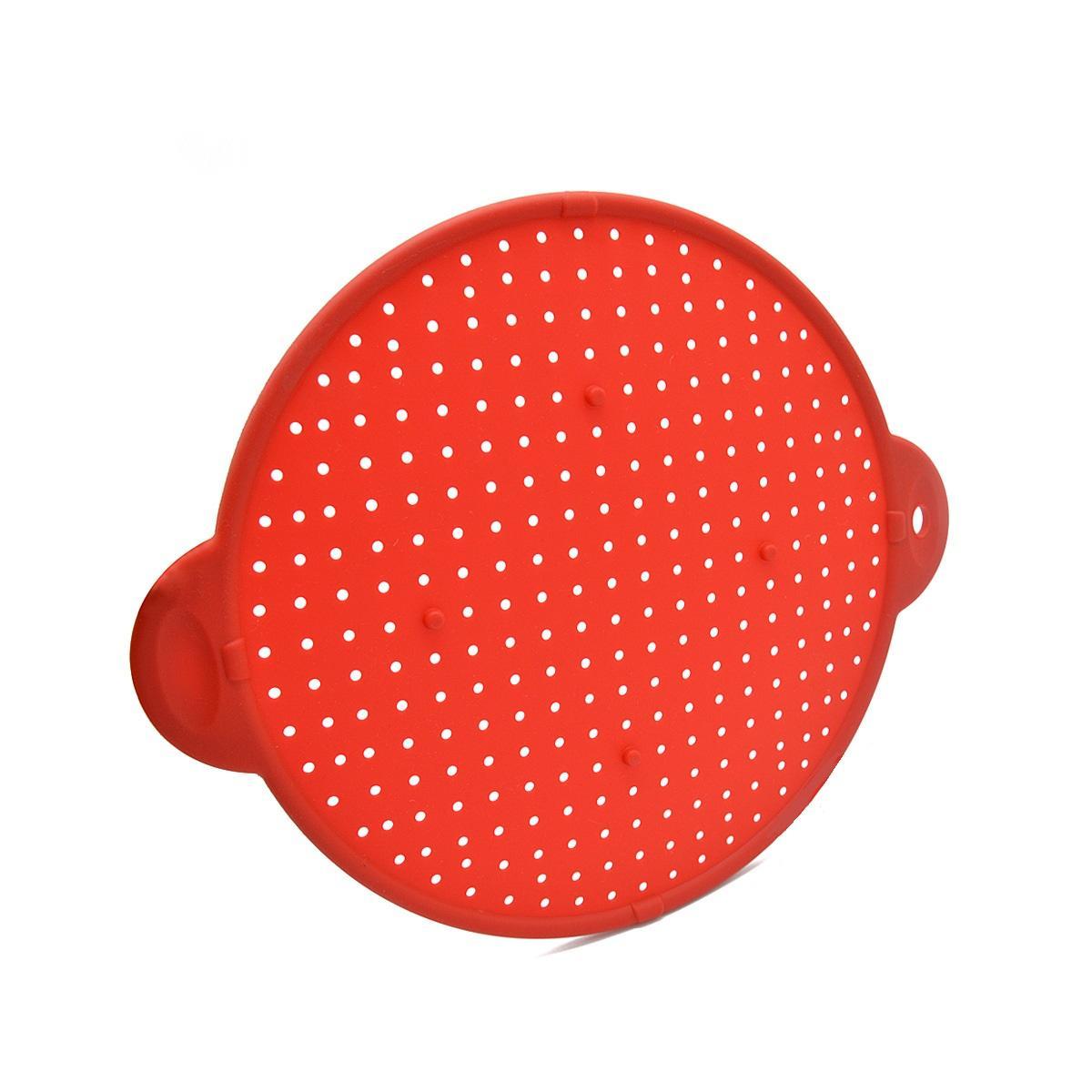 Multifunctional BPA Free silicone kitchen clip on strainer vegetables food fruit Colander