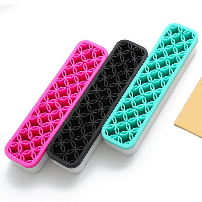 Amazon Hot Silicone grid make up cosmetic organizer makeup brush drying rack
