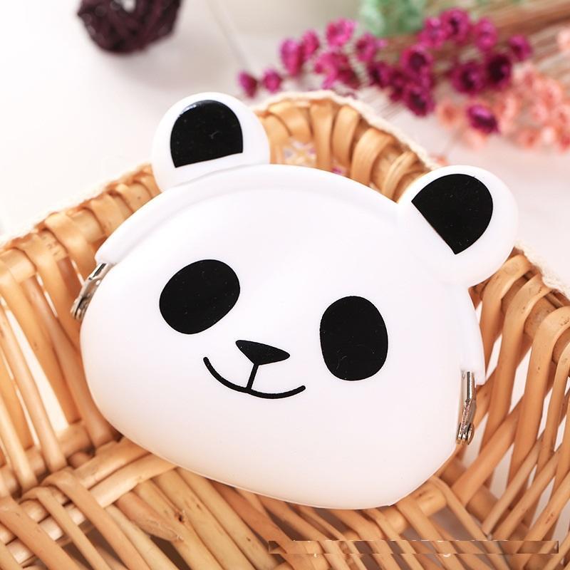 Custom logo cute designs eco-friendly silicone coin purse mini wallet for children