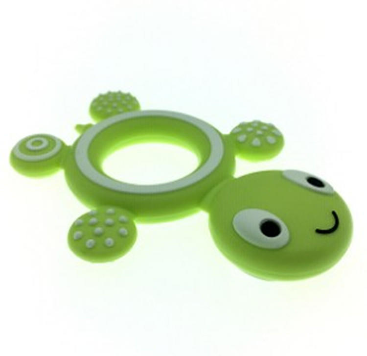 Silicone Baby Teethers Biting Toys Turtle Food Grade Tortoise Silicone Molar Rod Toddler