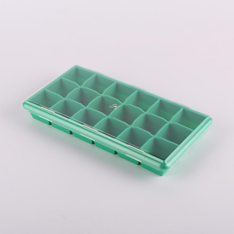 silicone products factory EU food grade 21 cavites square ice cube tray