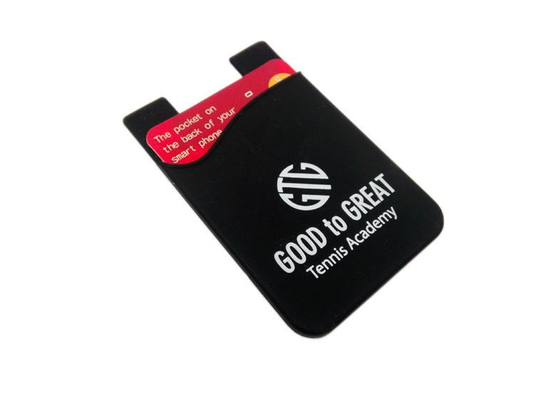 Sedex Audited Custom Brand Silicone Credit Phone Card Pocket