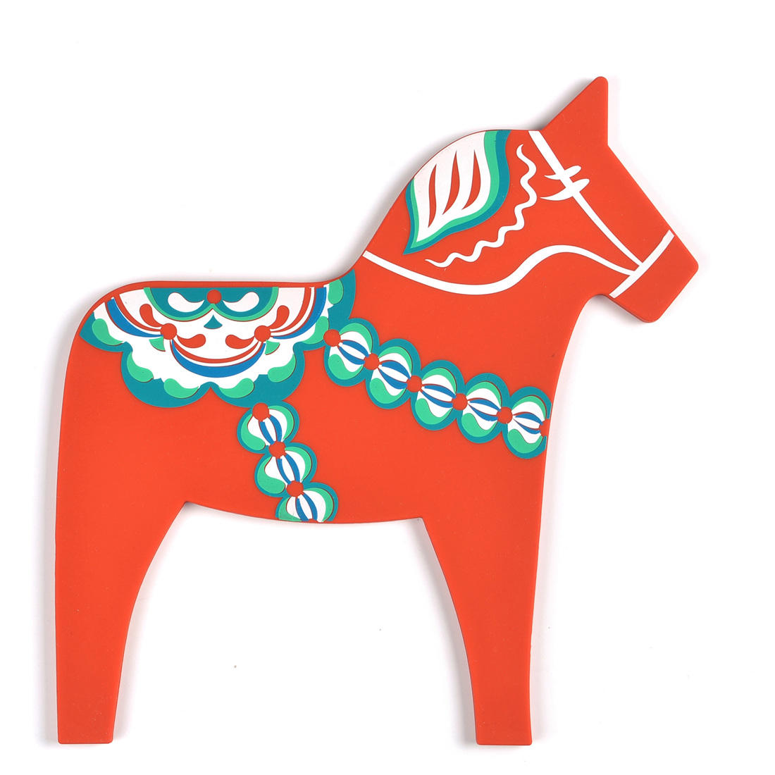 Non stick horse shape silicone pot holder with custom printing