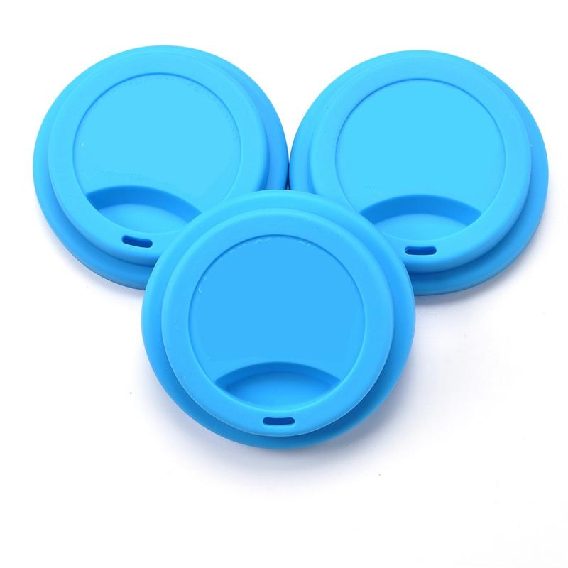 Colorful Silicone Cup Covers with Heart Shape Spoon Holder
