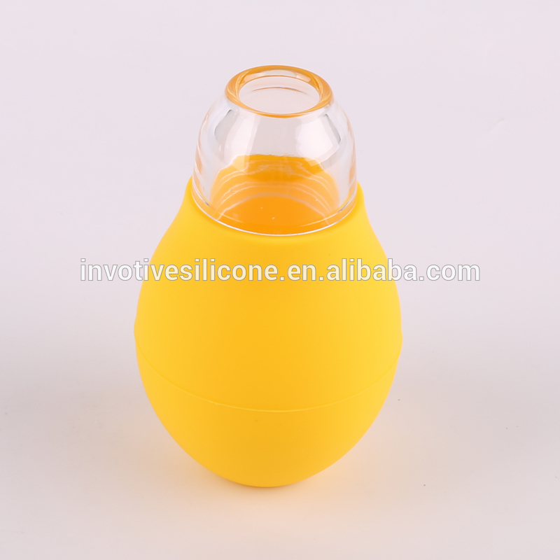 Promotional cheap kitchen baking tool silicone egg yolk extractor separator egg white divider