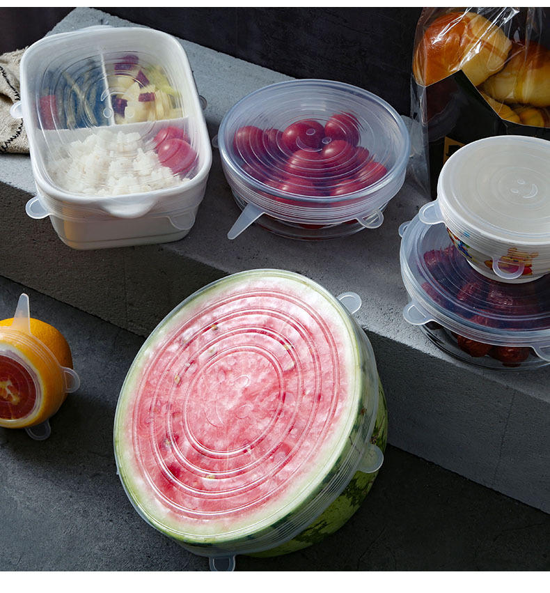 BSCI Factory Food Grade silicone stretch lids set for cup bowl and fresh fruit