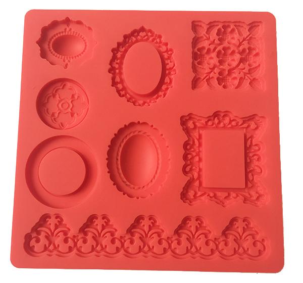 Silicone cake decorations fondant mold cake decorations tool-4