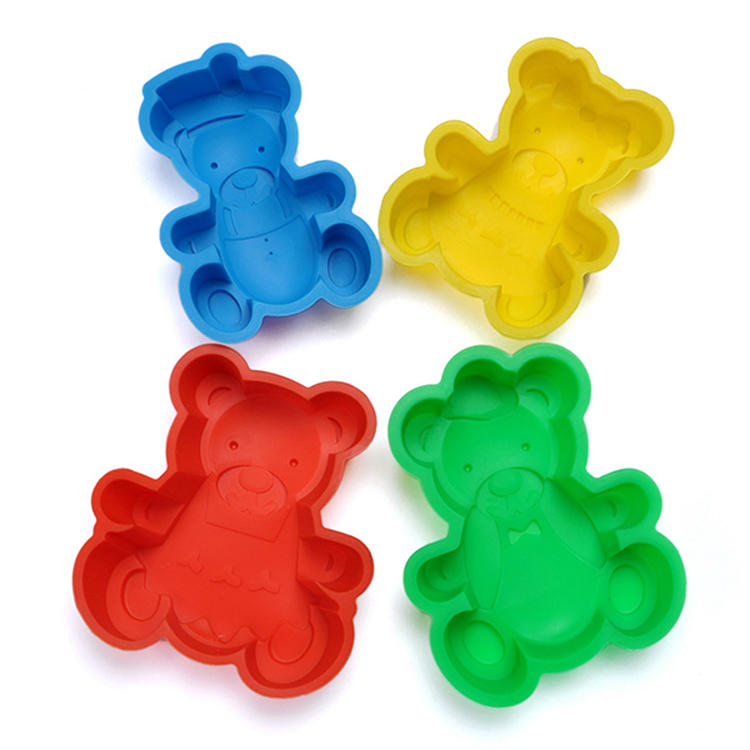 Lovely bear birthday cake pan candy mold for kids