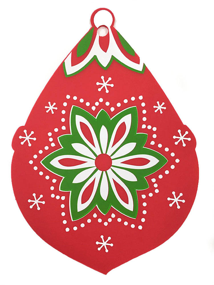 Fancy Christmas silicone trivet table mat with custom printing