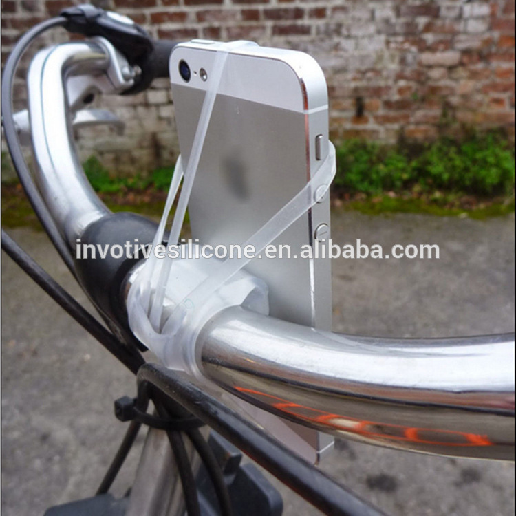 BSCI Factory Promotional Cheap Silicone Adjustable Bicycle Mount Mobile Phone Holder For Bike