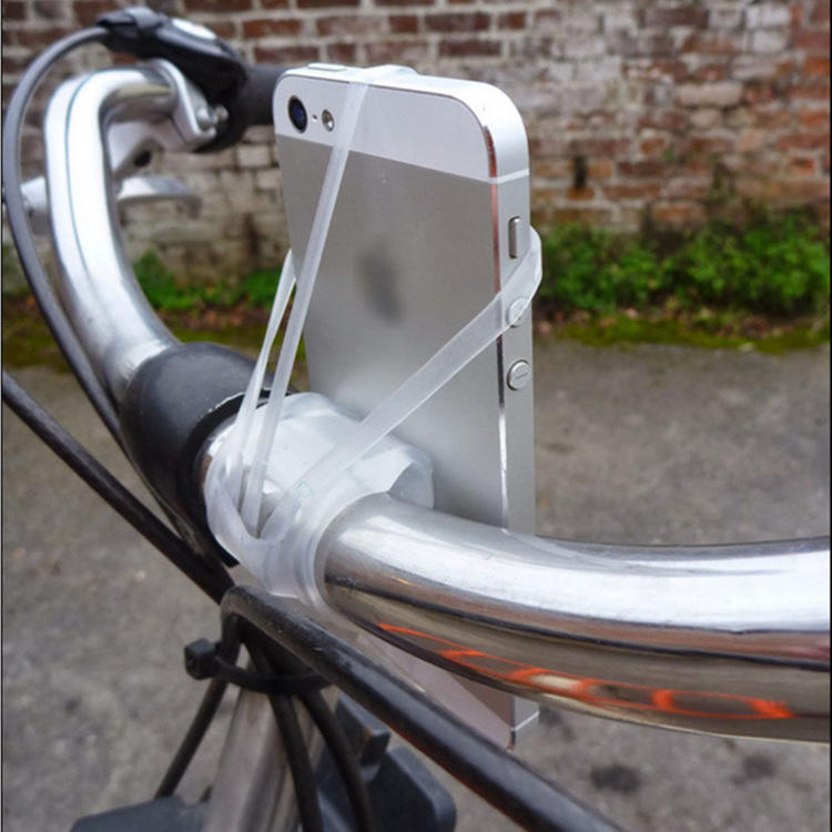 SEDEX Factory Promotional Custom Logo Silicone Adjustable Bike Handlebar Stroller Phone Holder
