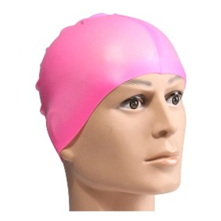 Customized printed logo Water-proof silicone swimming cap color swimming cap-4