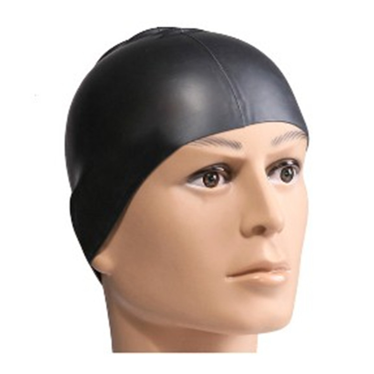 Customized printed logo Water-proof silicone swimming cap color swimming cap-6