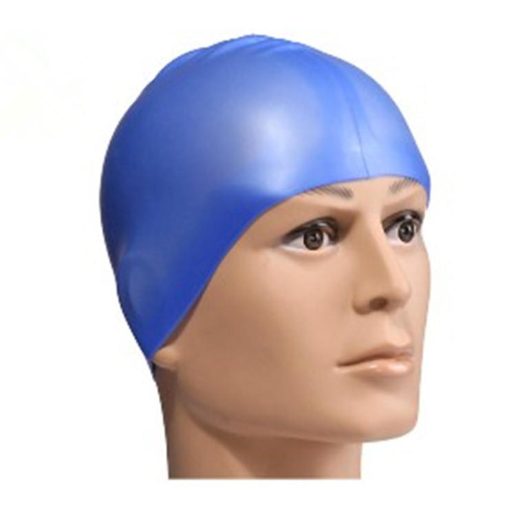 Customized printed logo Water-proof silicone swimming cap color swimming cap