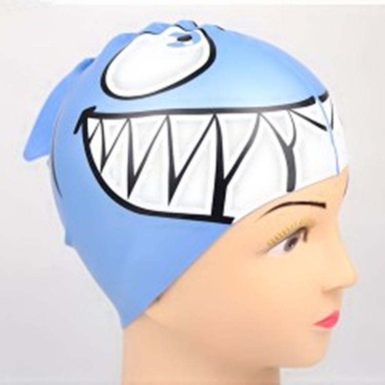 Kids Cartoon Swimming Cap Fish-shaped Swimming Cap Waterproof Silicone SwimmingCap
