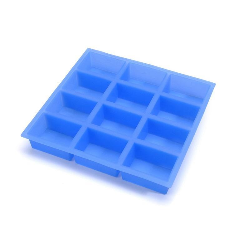 12 Cavity Handmade Rectangle Silicone Soap Mold