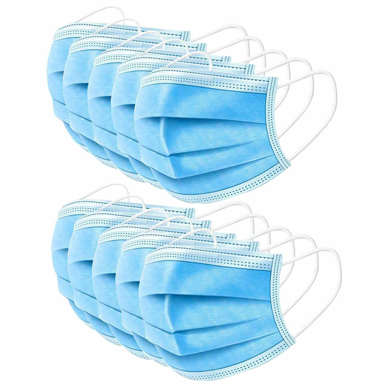 CE and FDA Certificated 50pcs Per Box of 3 Layers Non-woven Fabric Disposable Medical Mask Surgical Face Mask for Coronavirus