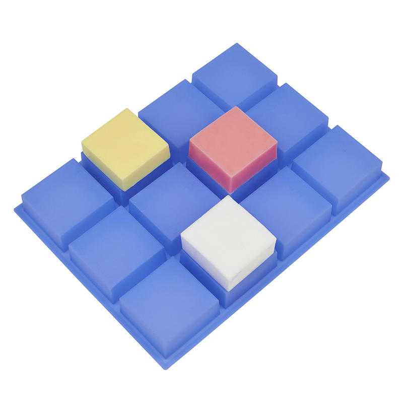 Catii Silicone Molds for Soaps 4oz, Square Soap Molds for Soap Making, Flexible Silicone Resin Mold for Homemade Craft