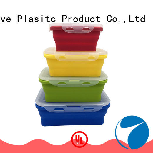 Hot Selling 4 Pack Collapsible Silicone Storage Container