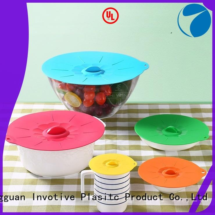 BSCI Factory Food Grade Set of 3 Suction silicone glass bowl lid set
