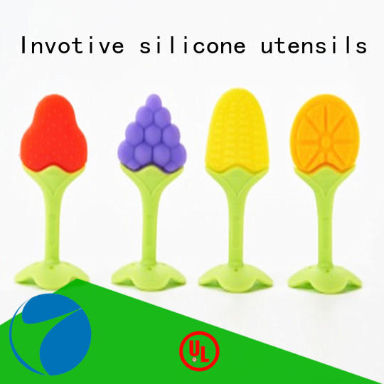 Baby Teether, Soft Silicone Stick Rod Toddler Molar Teeth Safe Guard Pain Relief Tool Kids Teether Educational Toy