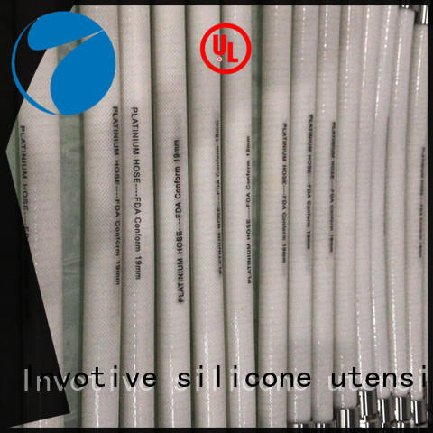 Invotive paltium material Silicone braided hose factory for medical instrument