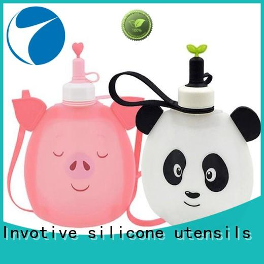 Invotive 100% food grade silicone baby bottles trendy designs for daily necessities