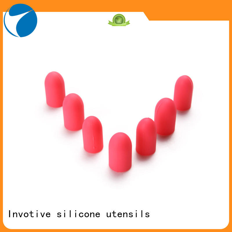 Invotive colorful silicone finger caps factory for wholesale