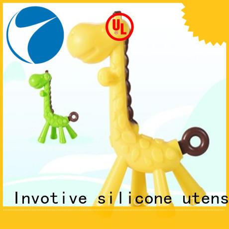 Cartoon Giraffe Shape Baby Teether Chew Toy Molar Rod Silicone Teeth Stick Teethers